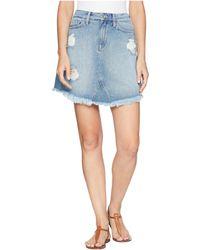 Mavi Jeans - Sonia Skirt In Light Ripped Vintage - Lyst