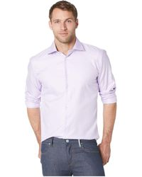 Bugatchi - Shaped Fit Long Sleeve Woven Shirt - Lyst