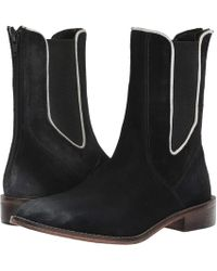 e1ac12a64 Lyst - Free People Landslide Leather Booties in Natural