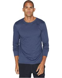 a87f186d Nike - Legend 2.0 Long Sleeve Tee (obsidian/metallic Silver) Men's T Shirt