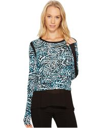 MICHAEL Michael Kors - Big Cat Woven Combo Top - Lyst