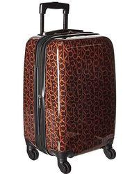 2fd93041a Calvin Klein - Ck-510 Signature Hardside 20 Upright Suitcase (brown) Luggage  -