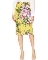 Eci - Floral Obsessed Midi Scuba Skirt - Lyst