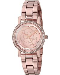3ac5086c8a1d Lyst - Michael Kors Watches Petite Norie Watch in Metallic