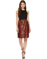 Tahari - Fit And Flare With Metallic Skirt - Lyst