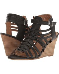 Report - Sonora Caged Wedge Sandal - Lyst