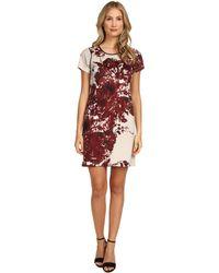 Marc New York | Deep V-Neck Sleeveless Sheath Dress | Lyst