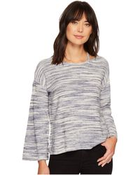 Two By Vince Camuto - Long Sleeve Novelty Space Dye Sweater With Slit Neckband - Lyst