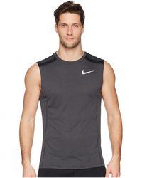 d394baf86f8b Lyst - Nike As M Cool Miler Slv Top in White for Men