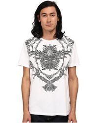 Just Cavalli - Short Sleeve Feather/flame Graphic Slim Fit Tee - Lyst