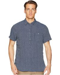 Todd Snyder - Short Sleeve Popover Stripe Shirt (indigo) Men's Short Sleeve Knit - Lyst