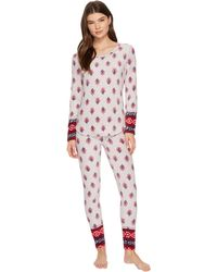 Lucky Brand - Packaged Microfleece Pajama Set - Lyst