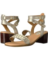 4759c7cbdb4a Lyst - Dune Mora Rose Gold Barely There Heeled Sandals in Pink