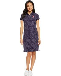 U.S. POLO ASSN. - Leaf Bud Print Polo Dress - Lyst