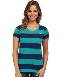 U.S. POLO ASSN. - Wide Stripes T-shirt - Lyst