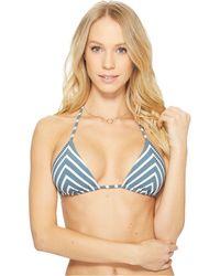 4467befb79cff Lyst - Reebok T-street Colorblock Natalie Bikini Top in Blue