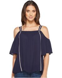 B Collection By Bobeau - Cold Shoulder Blouse - Lyst