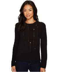 Lilla P - Long Sleeve Dropped Needle Crew Neck - Lyst