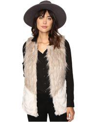 ONLY - Tilde Fur Mix Waistcoat - Lyst