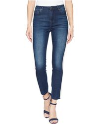 Romeo and Juliet Couture - Pearl Side Trim Skinny Jeans In Medium Denim - Lyst