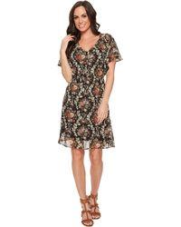 Stetson - 1398 Dark Floral Printed Chiffon Dress - Lyst