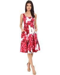 Donna Morgan   Sleeveless Cotton Sateen Scoop Neck Tea Length With Full Skirt   Lyst