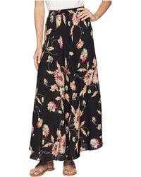 Chaps - Printed Rayon Stripe Skirt - Lyst