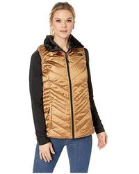 The North Face - Mossbud Insulated Reversible Vest (metallic Copper/tnf Black) Vest - Lyst