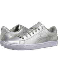 71a44165bf0 Lyst - PUMA Basket Classic Holographic Men s Sneakers in Metallic ...