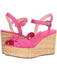 79144672449 Lyst - Kate Spade Tilly Gingham Wedge Sandals