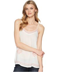 Roper - 1623 White Rayon Tank With Embroidery - Lyst
