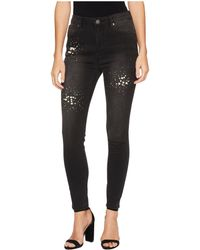 Romeo and Juliet Couture - Pearl Beaded Denim Pants - Lyst