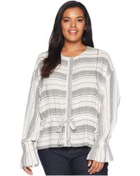 B Collection By Bobeau - Plus Size Harley Woven Bomber Jacket - Lyst