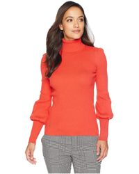 Lauren by Ralph Lauren - Petite Ribbed Puff-sleeve Sweater - Lyst