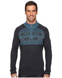 ECŌTHS - Zane Sweater (heathered Dark Navy) Sweater - Lyst