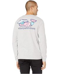 42ef7b01a Vineyard Vines - Long Sleeve Vacation Whale Pocket Tee - Lyst
