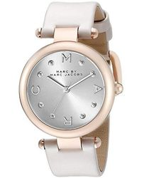 Marc By Marc Jacobs - Mj1408 - Dotty Leather (gray) Watches - Lyst