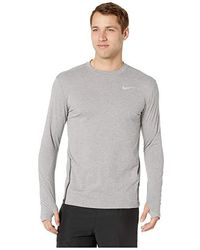 567a33dc Nike - Sphere Element Top Crew Long Sleeve 2.0 (gunsmoke/heather/reflective  Silver