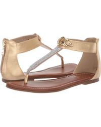 1a7fb8b82e2 Lyst - G by Guess Women s Learn Flat Gladiator Sandals in Metallic
