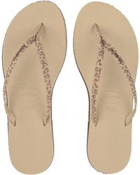 3e5b29663619 Lyst - Havaianas You Animals Flip-flops (sand Grey) Women s Sandals ...
