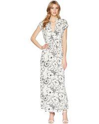 Lucky Brand - Printed Rib Dress - Lyst