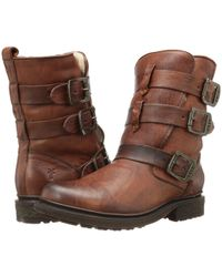 Frye - Valerie Shearling Strappy Ankle Boot - Lyst