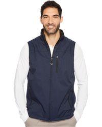 Izod   Reversible Water Resistant Nylon/fleece Vest With Zipper Pockets   Lyst