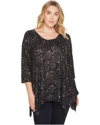 Nally & Millie - Plus Size Printed Floral Sweater Tunic - Lyst