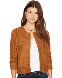 Lucky Brand - Suede Pocket Jacket - Lyst