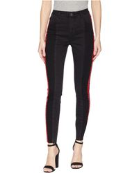 Romeo and Juliet Couture - Double Side Tape Denim Pants - Lyst