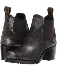 9c097c5a6002e Frye - Sabrina Chelsea (anthracite Metallic Brush-off) Pull-on Boots -