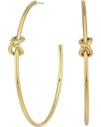 Lauren by Ralph Lauren - Classic Metal Knots Large Hoop Earrings - Lyst
