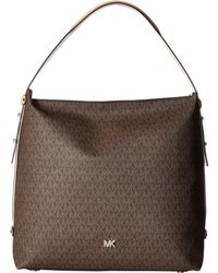 8cb186a9c0 Lyst - Michael Kors Pebbled Leather Griffin Large Satchel in Brown