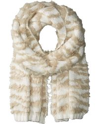 BCBGMAXAZRIA - Textured Animal Knit Muffler - Lyst